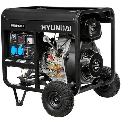 обслуживание дизельный генератор hyundai dhy 6000se