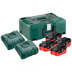 Metabo Basic-Set 4x LiHD 6,2Ah