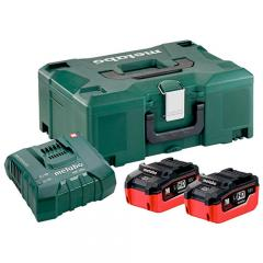 Metabo Basic-Set 2x LiHD 6,2Ah
