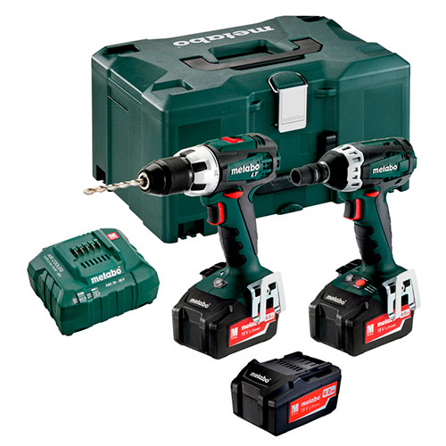 Фото - комплект Metabo Combo Set 2.1.2 18 V (3x4,0Ah)